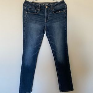 american eagle dark-washed jeans